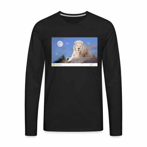 white lion moon light 62073026 - Men's Premium Long Sleeve T-Shirt