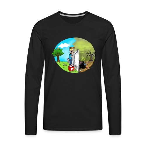 FUNnel Vision THE OTHER SIDE (Adults) - Men's Premium Long Sleeve T-Shirt