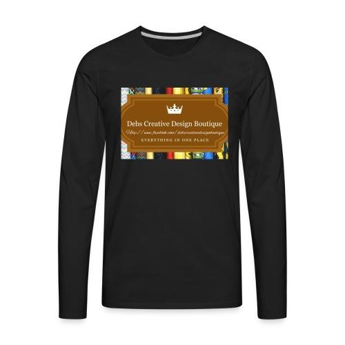 Debs Creative Design Boutique with site - Men's Premium Long Sleeve T-Shirt
