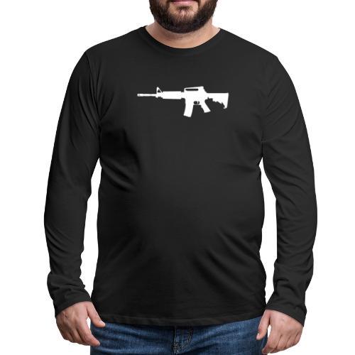 AR-15 Rifle Silhouette - Men's Premium Long Sleeve T-Shirt