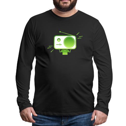 MusiqHead Green Ver 4 - Men's Premium Long Sleeve T-Shirt