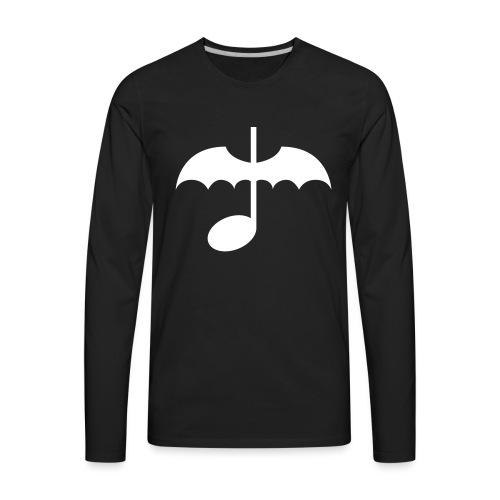 Music Note with Bat Wings - Men's Premium Long Sleeve T-Shirt