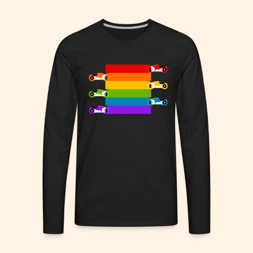 Pride on the Game Grid - Men's Premium Long Sleeve T-Shirt