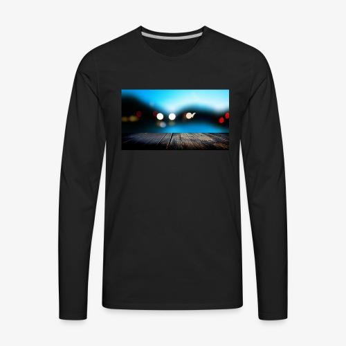 Modern Art Dock painting Fine Art - Men's Premium Long Sleeve T-Shirt