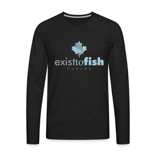 Exist To Fish Canada Color Logo - Men's Premium Long Sleeve T-Shirt