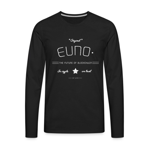 white In crypto we trust - Men's Premium Long Sleeve T-Shirt