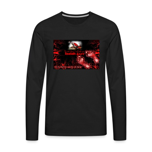 Isaiah 41:13 crucify my flesh - Men's Premium Long Sleeve T-Shirt