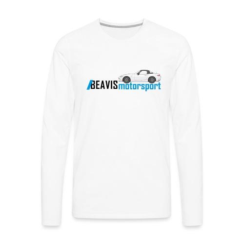ND Text Logo - Men's Premium Long Sleeve T-Shirt