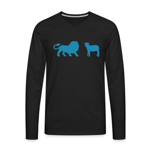 Lion and the Lamb - Men's Premium Long Sleeve T-Shirt