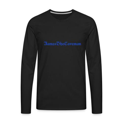 JamesTheCaveman T - Men's Premium Long Sleeve T-Shirt