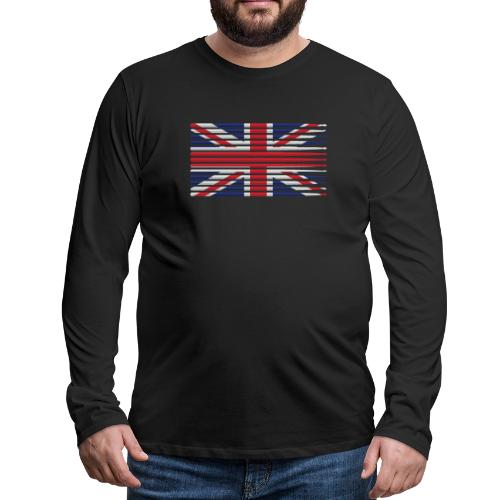 United Kingdom drummer drum stick flag - Men's Premium Long Sleeve T-Shirt