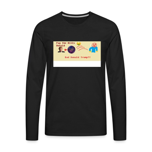 donald trump gets hit with a ball - Men's Premium Long Sleeve T-Shirt