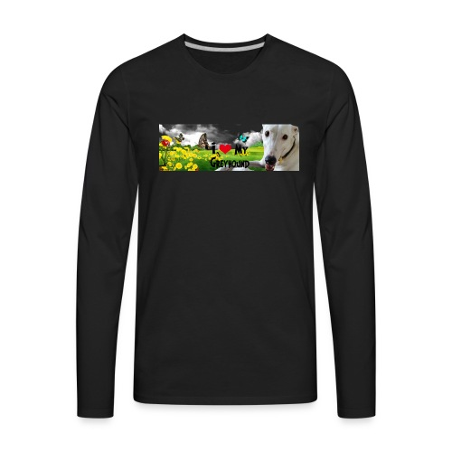 I Love My Greyhound - Men's Premium Long Sleeve T-Shirt