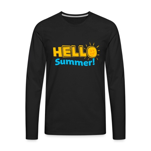 Kreative In Kinder Hello Summer! - Men's Premium Long Sleeve T-Shirt