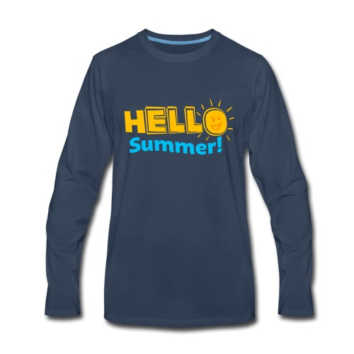 Kreative In Kinder Hello Summer! - Men's Premium Long Sleeve T-Shirt