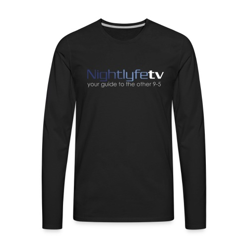 NTV Logo Full - Men's Premium Long Sleeve T-Shirt