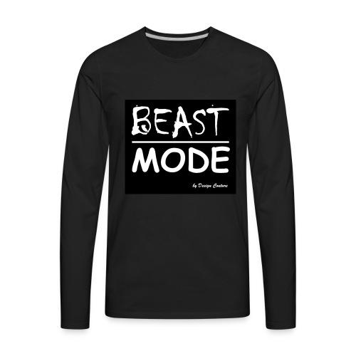 MODE, BEAST-WHITE - Men's Premium Long Sleeve T-Shirt