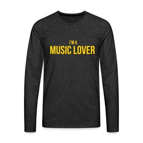 Music Lover small - Men's Premium Long Sleeve T-Shirt