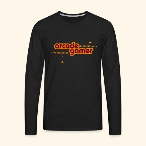 arcadegamer typo - Men's Premium Long Sleeve T-Shirt