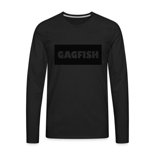 GAGFISH BLACK LOGO - Men's Premium Long Sleeve T-Shirt