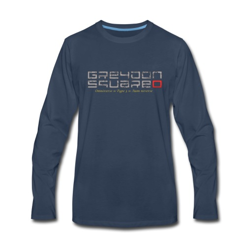 Greydon Square Blue & Gold - Men's Premium Long Sleeve T-Shirt
