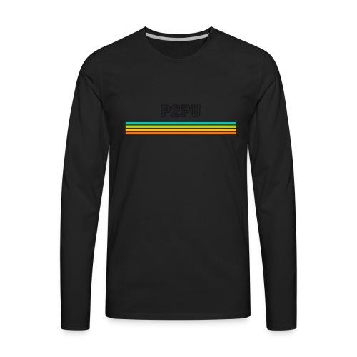 striped mug black logo png - Men's Premium Long Sleeve T-Shirt