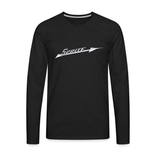 Austin-Healey Sprite silver script emblem - - Men's Premium Long Sleeve T-Shirt