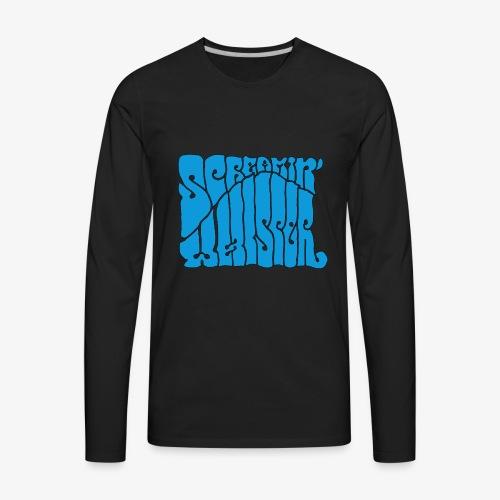 Screamin' Whisper Retro Logo - Men's Premium Long Sleeve T-Shirt