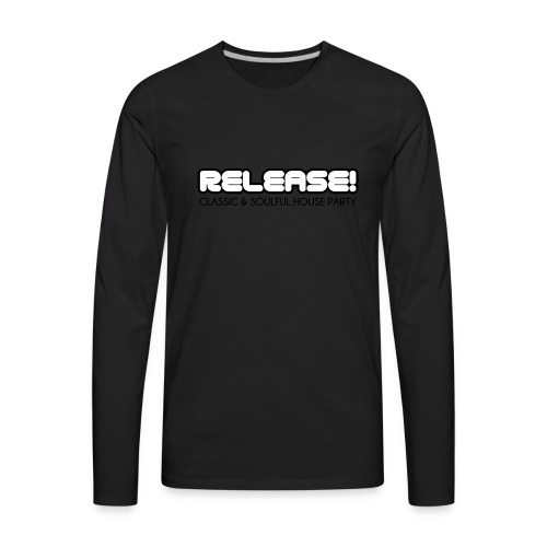 RELEASE! Black logo - Men's Premium Long Sleeve T-Shirt