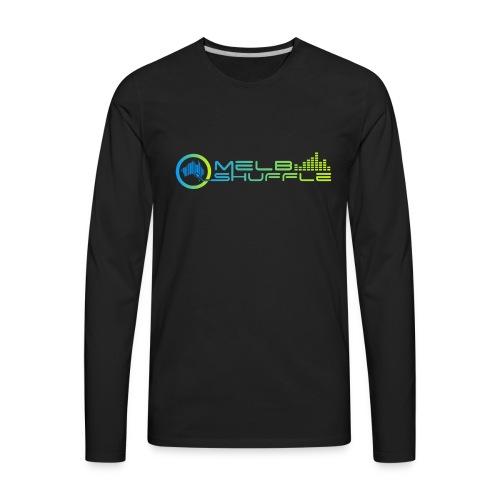 Melbshuffle Gradient Logo - Men's Premium Long Sleeve T-Shirt