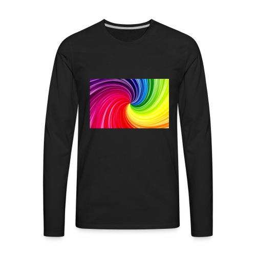 color swirl - tie-dye - Men's Premium Long Sleeve T-Shirt
