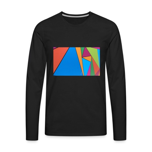 Colorful Geometry - Men's Premium Long Sleeve T-Shirt
