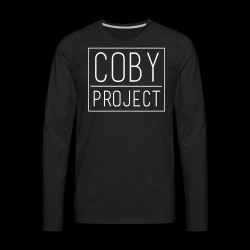 coby logo white - Men's Premium Long Sleeve T-Shirt