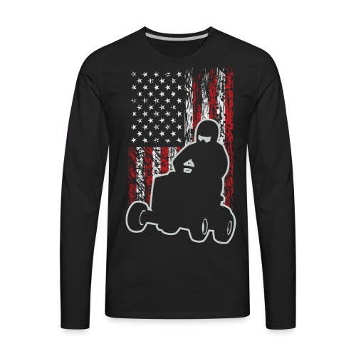 Lawnmower Race USA Grunge - Men's Premium Long Sleeve T-Shirt