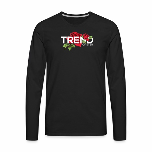 Trend Monster Rose🌹 Logo - Men's Premium Long Sleeve T-Shirt