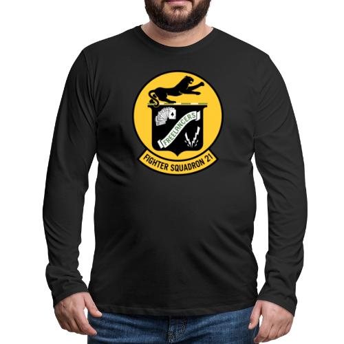 Fighter Squadron Twenty One VF-21 - Men's Premium Long Sleeve T-Shirt