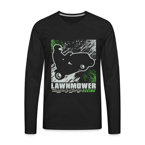 Lawnmower Racing Abstract - Men's Premium Long Sleeve T-Shirt
