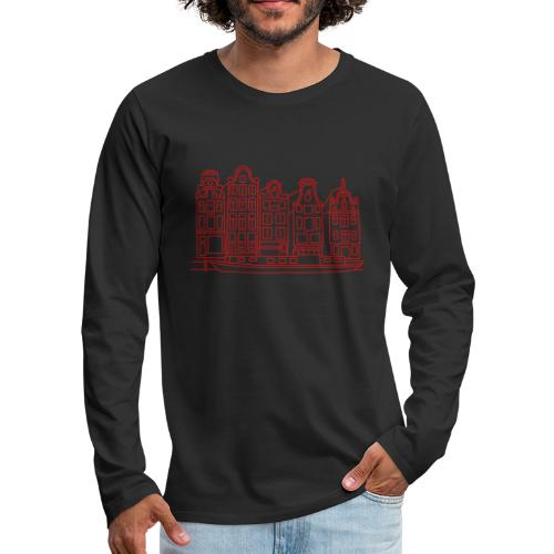 Amsterdam Canal houses - Men's Premium Long Sleeve T-Shirt