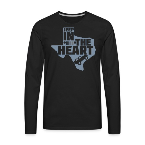 Jeep in the heart of Texas - Men's Premium Long Sleeve T-Shirt