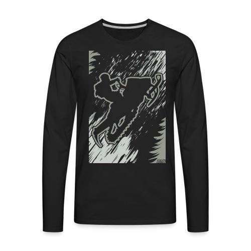 Snowmobiling Forest Run - Men's Premium Long Sleeve T-Shirt