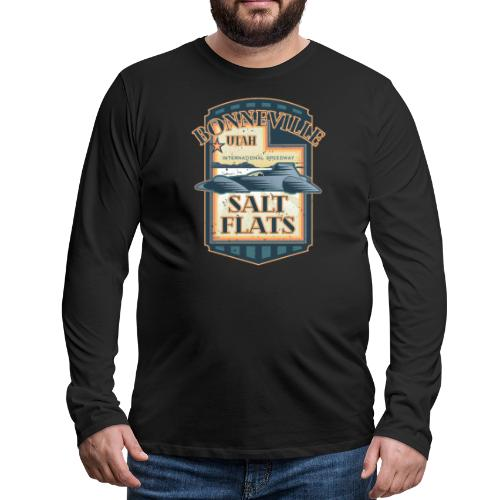 Bonneville Salt Flats Utah Land Speed Retro Design - Men's Premium Long Sleeve T-Shirt
