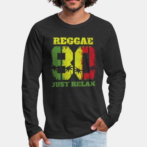 reggae music relax - Men's Premium Long Sleeve T-Shirt