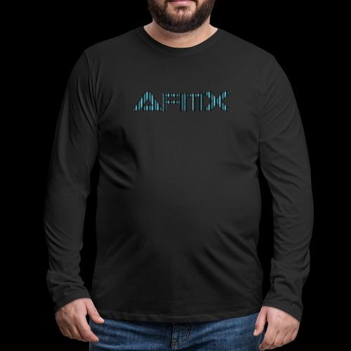 AfimX Logo Design - Men's Premium Long Sleeve T-Shirt