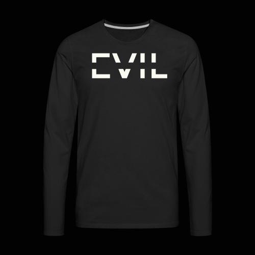 EVIL Logo - Men's Premium Long Sleeve T-Shirt
