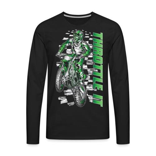 Motocross Throttle It Kawasaki - Men's Premium Long Sleeve T-Shirt