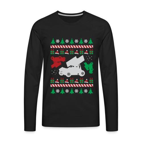 Sprint Car Ugly Christmas - Men's Premium Long Sleeve T-Shirt
