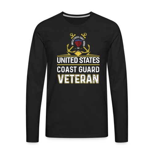 UNITED STATES COAST GUARD VETERAN - Men's Premium Long Sleeve T-Shirt