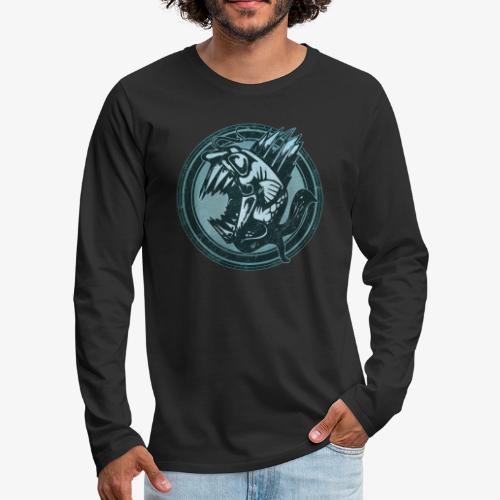 Wild Fish Grunge Animal - Men's Premium Long Sleeve T-Shirt