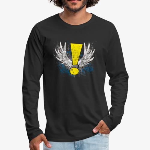 Winged Whee! Exclamation Point - Men's Premium Long Sleeve T-Shirt