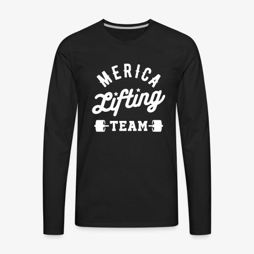Merica Lifting Team - Men's Premium Long Sleeve T-Shirt